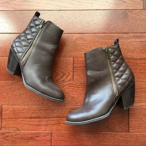 Chocolate Brown Chunky Heel Bootie Boot size 8